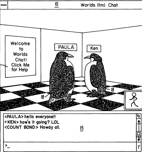 Screen Shot of virtual world patent