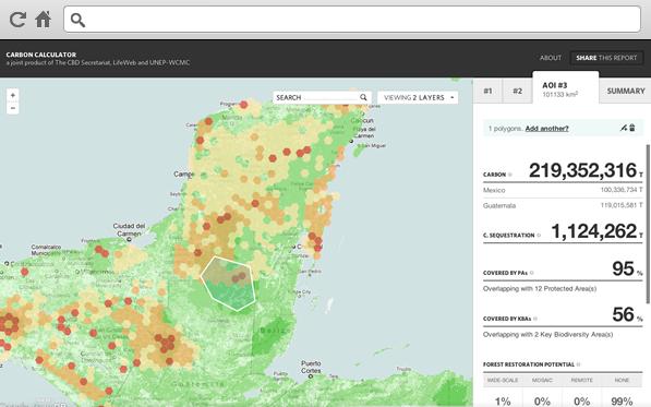 CartoDB's carbon calculator map