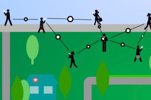 Startup Open Garden's concept of a crowdsourced mesh network (Source: Open Garden)