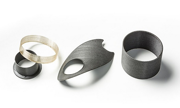 Objects printed with Arevo's filaments. Photo courtesy of Arevo.