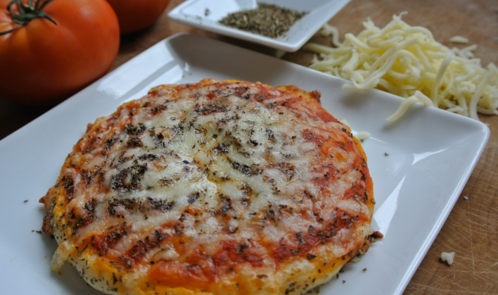 3D printed pizza. Photo courtesy of Natural Machines.