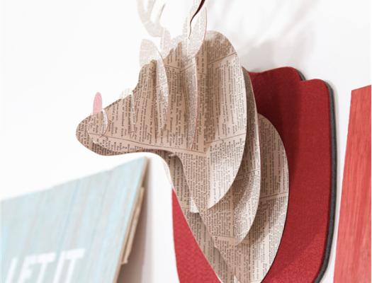 3D reindeer made with Cricut Explore