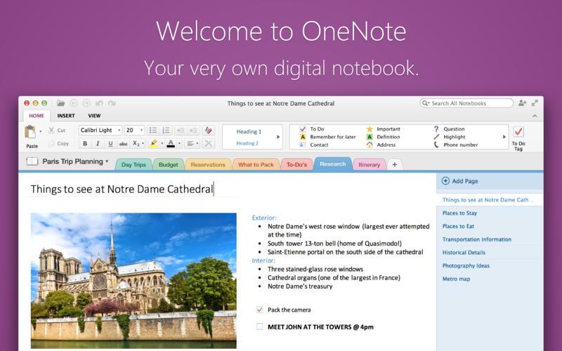 Microsoft OneNote Mac OS X