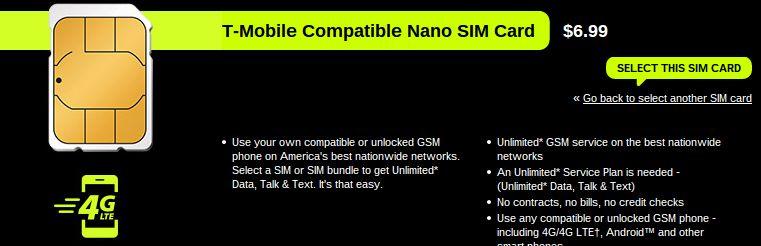 Straight Talk nano SIM