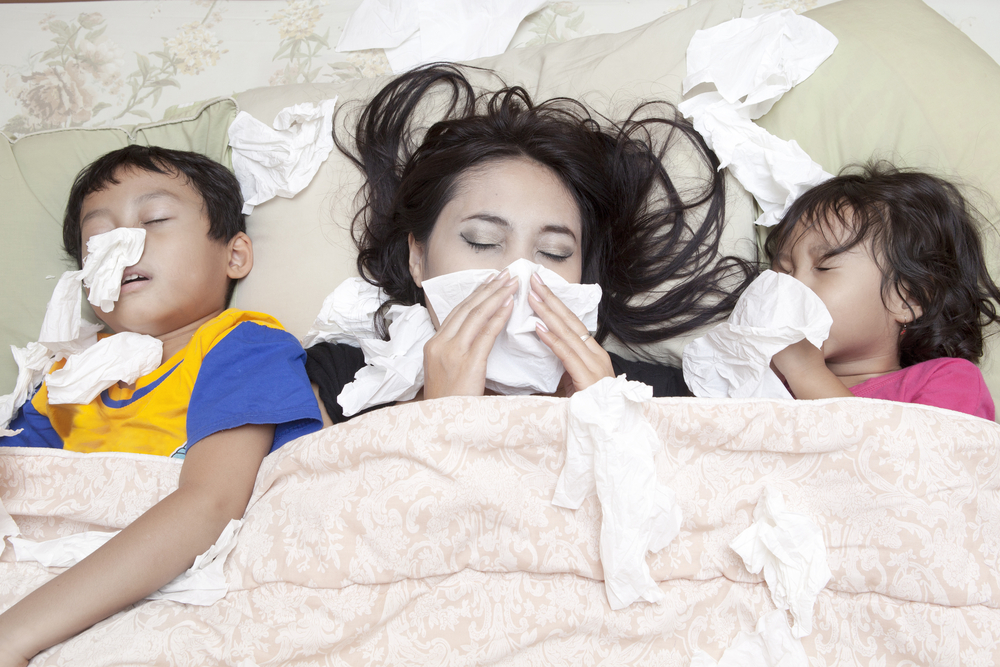 sick with flu