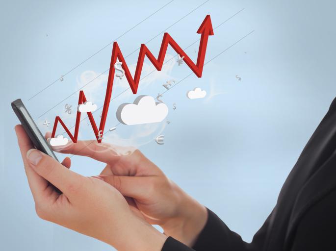 stock market data cloud phone