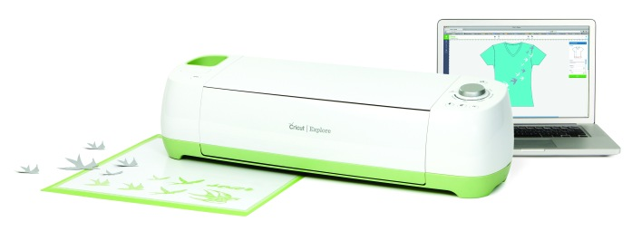 The Cricut Explore and the online Cricut creation space. Photo courtesy of Cricut.
