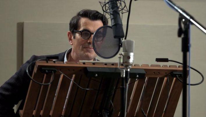 Ty Burrett, recording the voice of Mr. Peabody.