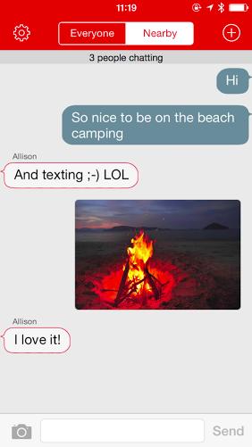 Open Garden FireChat screenshot