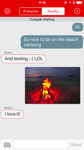 Open Garden FireChat screenshot