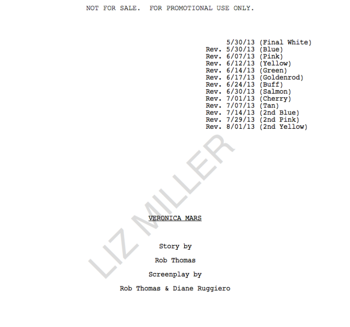 veronica mars screenplay screenshot