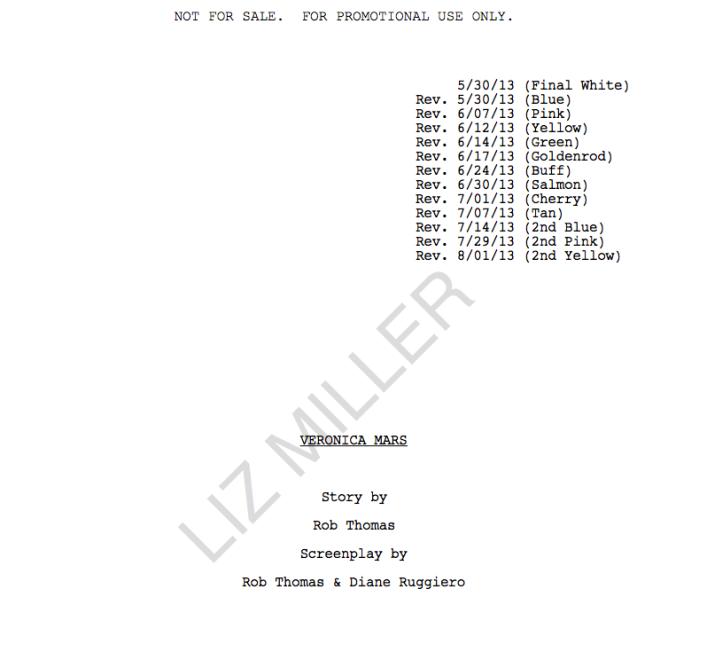 veronica mars screenplay screenshot