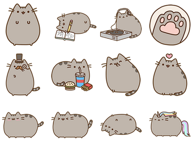 An example of a Facebook Sticker pack.