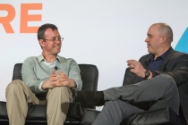 Databricks CEO Ion Stoica (left) at Structure Data 2014. (c) Jakub Mosur / jakubmosur.photoshelter.com