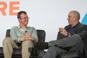 Databricks CEO Ion Stoica (left) at Structure Data 2014. (c) Jakub Mosur / jakubmosur.photoshelter.com
