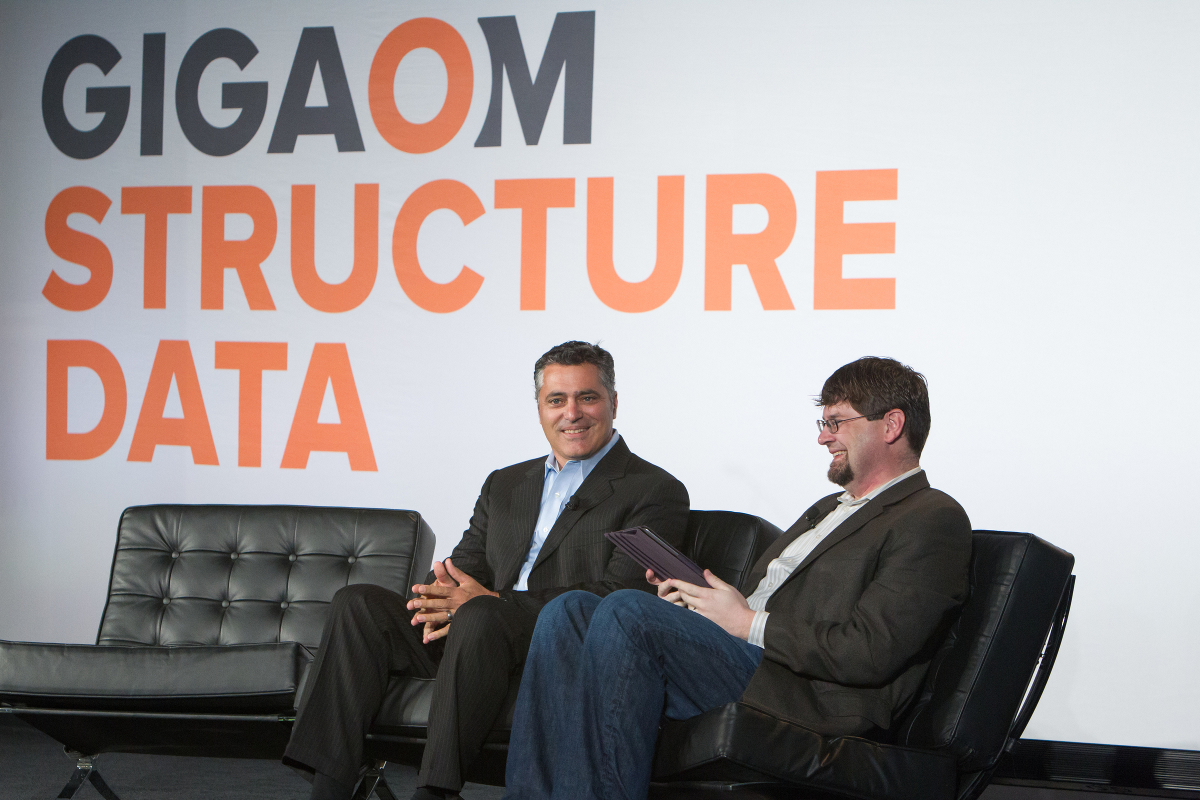 Tom Reilly (left) at Structure Data 2014. (c) Jakub Moser / http://jakubmosur.photoshelter.com
