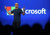 Satya Nadella delivered the opening keynote to kick off the 2014 Microsoft Build developer conference which runs through April 4.  (Photo by Justin Sullivan/Getty Images)