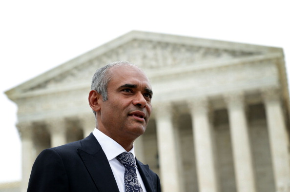 Aereo CEO Chet Kanojia leaves the U.S. Supreme Court after oral arguments April 22, 2014 in Washington, DC. (Photo by Alex Wong/Getty Images)