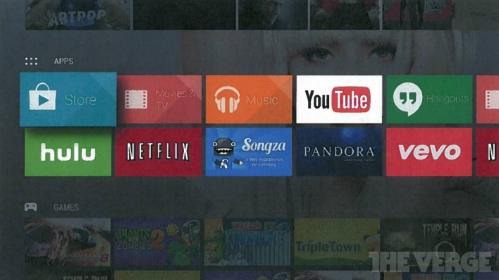 Google's Android TV project, courtesy of the Verge.