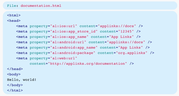 app links code