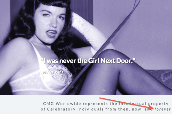 Bettie Page screenshot