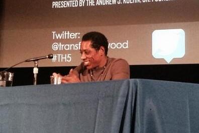 Jones speaks at Transforming Hollywood 2014.