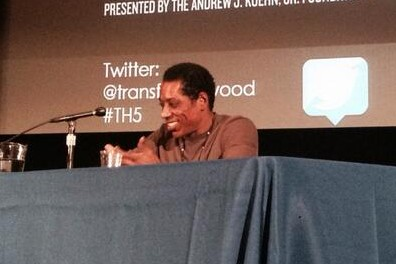 Jones speaks at Transforming Hollywood 2014.