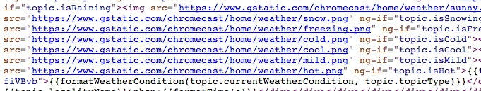 chromecast weather homescreen source