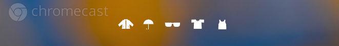 Chromecast weather icons. Background simulated.