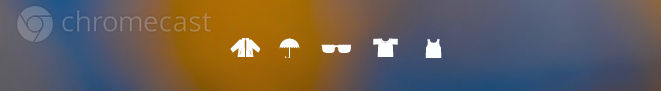 Chromecast weather icons. Background simulated.