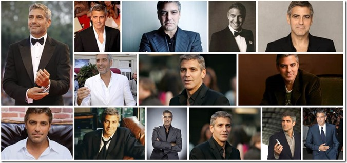 Images of George Clooney filtered by those showing head and shoulders.