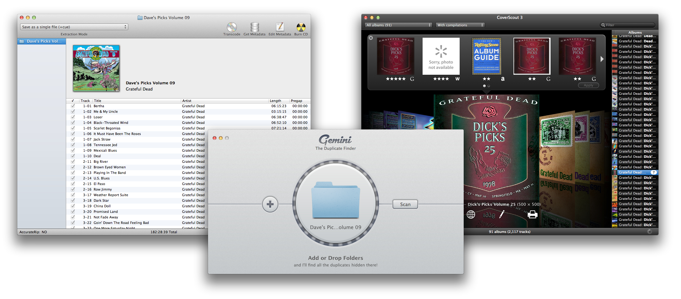 Curating your music files