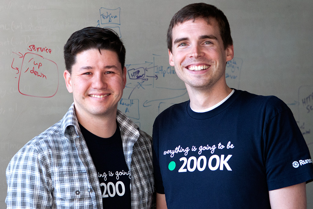 Runscope founders (from left to right) Frank Stratton and  John Sheehan.