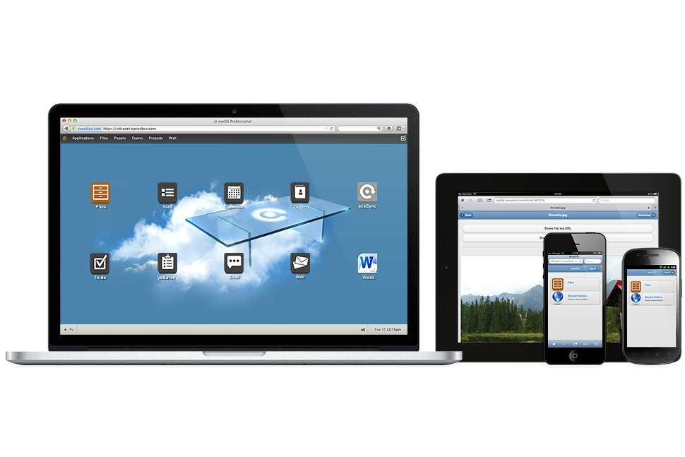 eyeOS virtual desktop