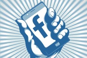 Facebook phone hand
