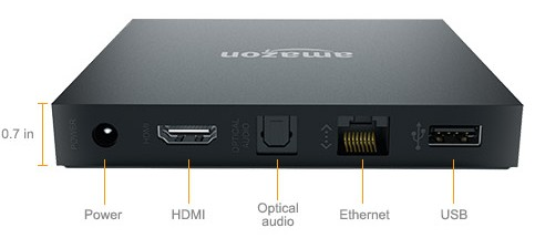The Fire TV has a USB port - but you will not be able to use it for local file playback.