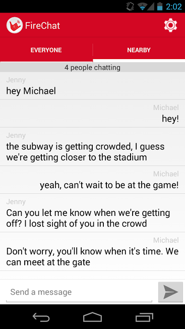 FireChat on Android - ScreenShot