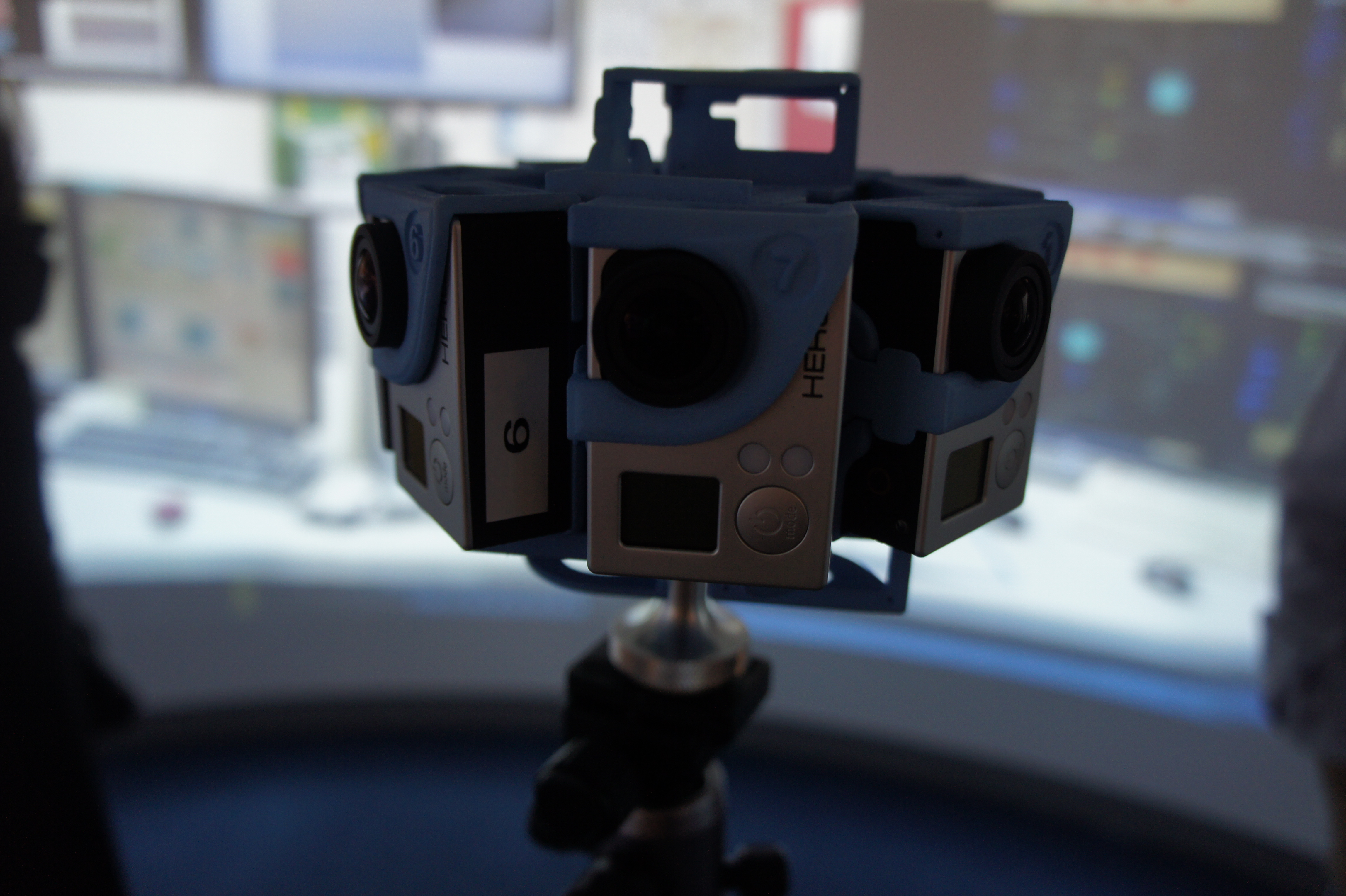 GoPro cameras used to create a 360 degree immersive experience.