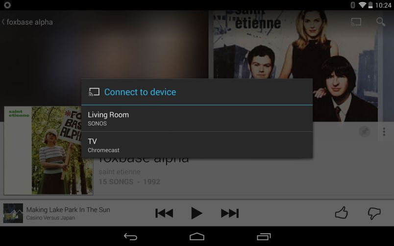 google play music sonos screenshot