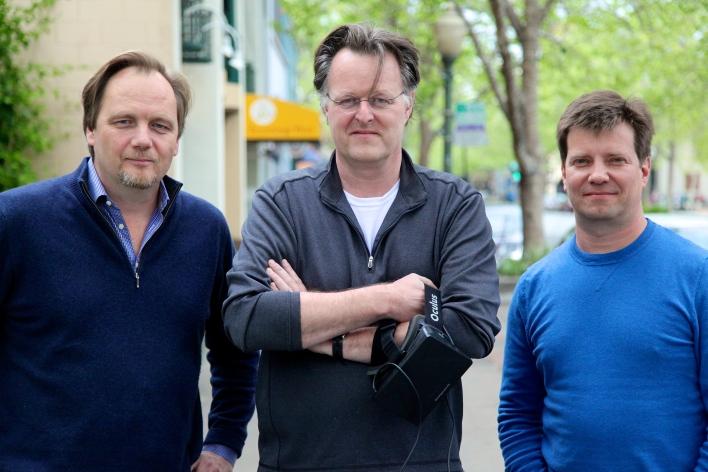 Jaunt CEO Jens Christensen, CTO Arthur van Hoff and vice president of engineering Tom Annau. Photo by Signe Brewster.