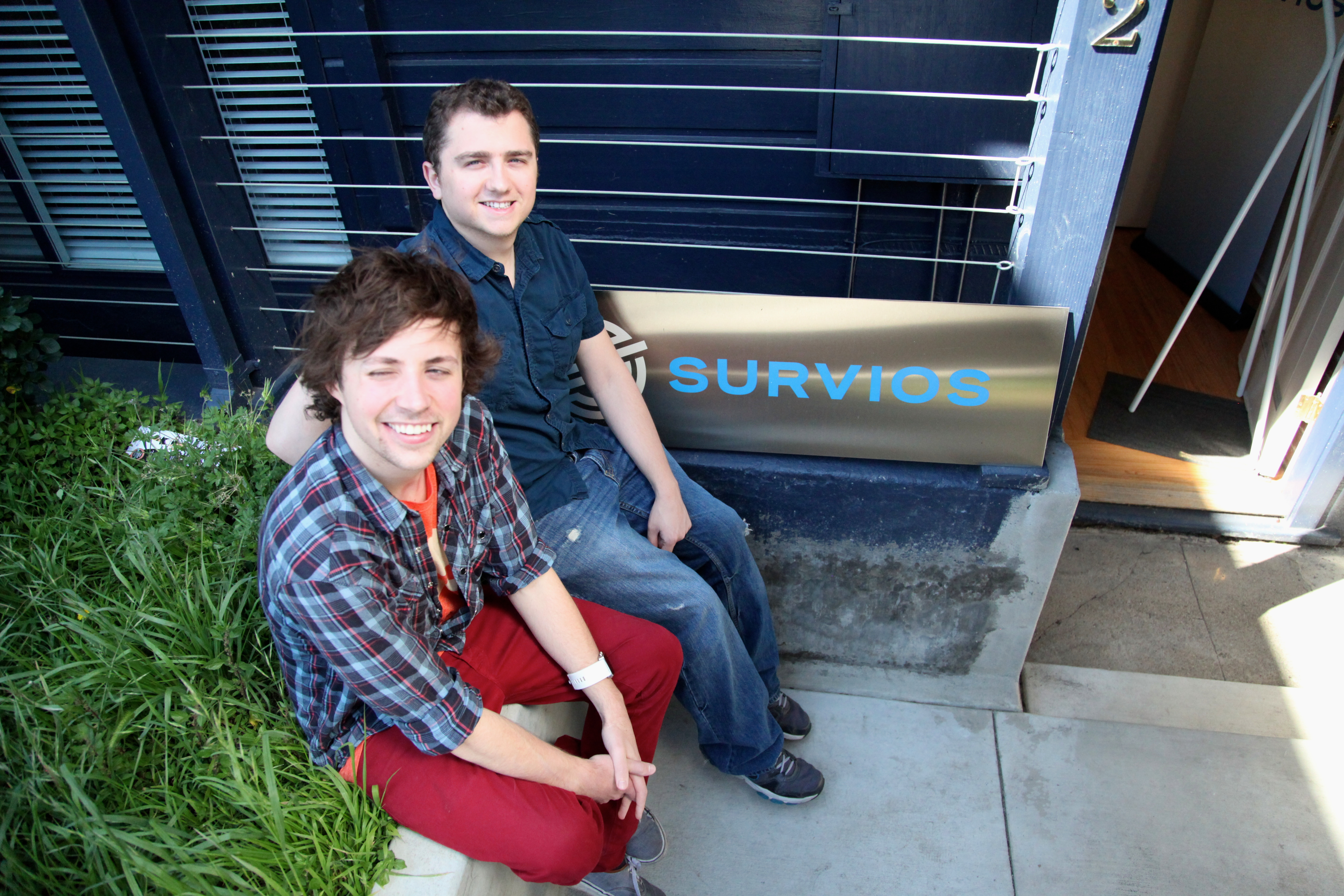 Survios founders James Illiff and Nathan Burba. Photo by Signe Brewster.