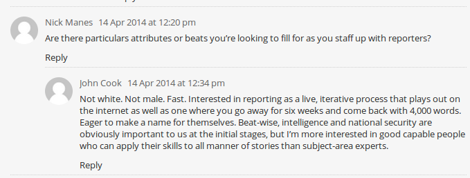 John Cook Intercept comments1