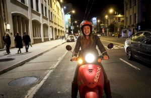 Scoot (woman on electric scooter)