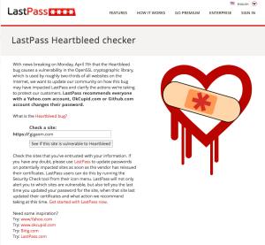 LastPass Heartbleed checker
