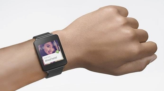 lg g watch on wrist
