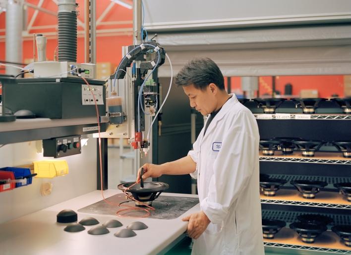 Meyer Sound loudspeaker driver manufacturing in  Berkeley, California. Image: Meyer Sound.