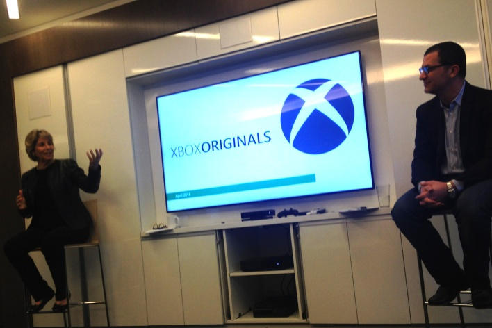 Nancy Tellem and Jordan Levin, during last week's presentation of Xbox's upcoming original content.