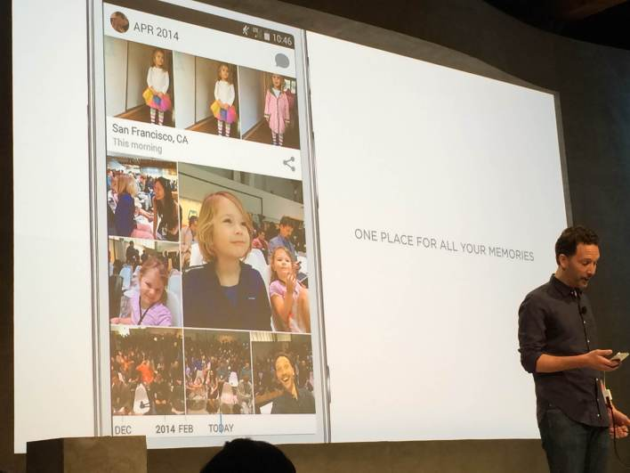 Drew Houston debuts Dropbox's new Carousel feature. Photo by Lauren Hockenson/Gigaom