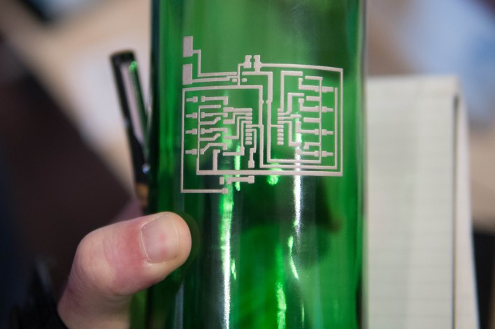 Printed Electronics bottle print