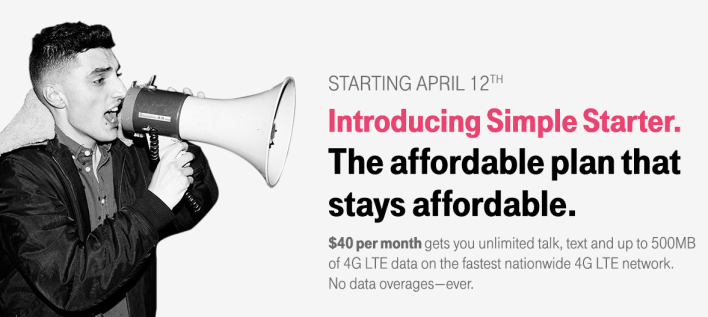 T-Mobile simply starter rate plan